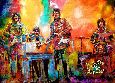 Beatles Magical Mystery Tour Art Print by Leland Castro