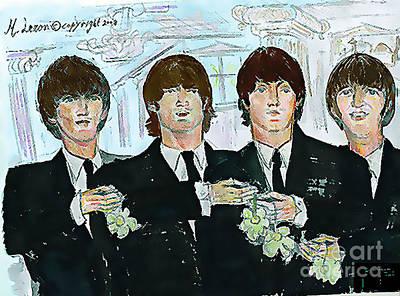 Beatles Life Music Digital Art - Beatles M.b.e by Moshe Liron