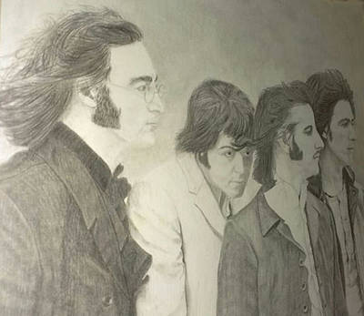 Drawing - Beatles by Photo Shirts