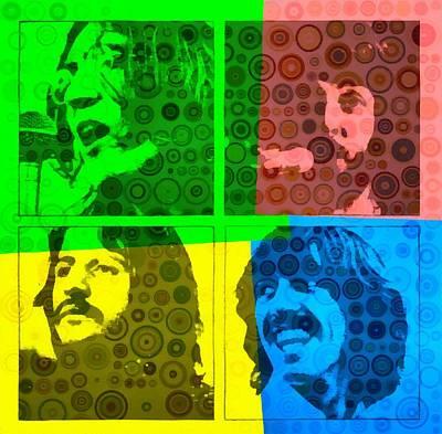 Beatles Pop Art Collage Print by Dan Sproul