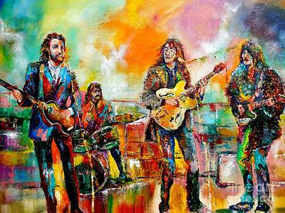 Harrison Painting - Beatles Rooftop Concert 2 by Leland Castro