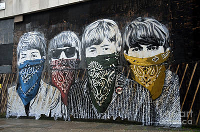 Beatles Street Mural Art Print