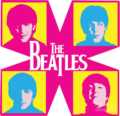 Illusttation Digital Art - Beatles Vinil Cover Colors Project No.01 by Caio Caldas