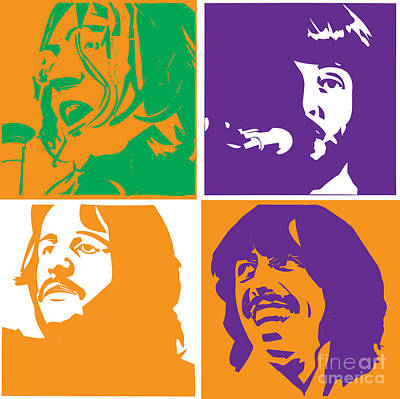 Band Digital Art - Beatles Vinil Cover Colors Project No.02 by Caio Caldas