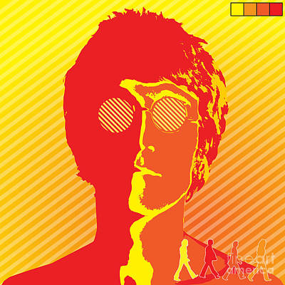 Rock N Roll Digital Art - Beatles Vinil Cover Colors Project No.03 by Caio Caldas