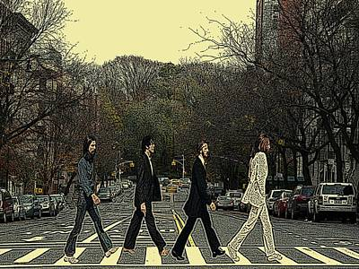 Cabin Wall Photograph - Beatles Walk New York by Movie Poster Prints