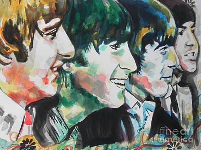 Painting - The Beatles 02 by Chrisann Ellis