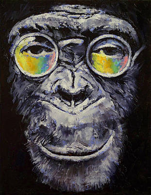 Chimpanzee Painting - Beatnik by Michael Creese