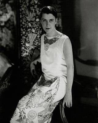Beatrice Lillie Wearing A Dress Art Print by Edward Steichen