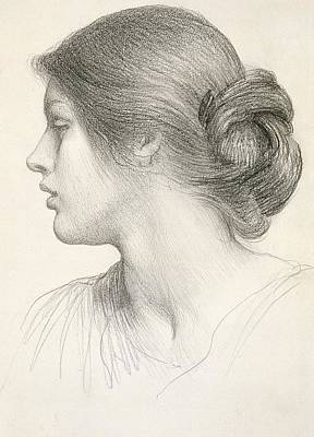 Model Drawing - Beatrice Stuart by Sir Frank Dicksee