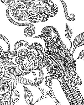 Graphic Drawing - Beatriz by Valentina Harper