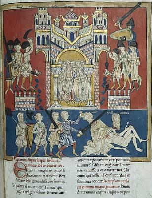Beatus Of San Pedro De Carde�a. 1175 - Art Print by Everett