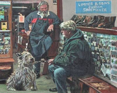 Shoemaker Painting - Beau Bob And The Bootmaker by Cliff Wilson
