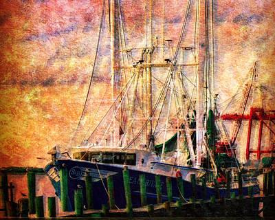 Shrimp Boat Photograph - Beau Rivage-horizontal by Barry Jones