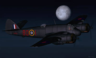 Digital Art - Beaufighter Night Fighter by Walter Colvin