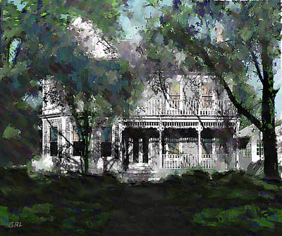Painting - Beaufort North Carolina Street House 2b Original Digital Fine Art Work by G Linsenmayer