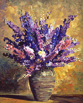 Interior Still Life Painting - Beaujolais Bouquet by David Lloyd Glover
