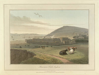 Cymru Photograph - Beaumaris Castle On Anglesey by British Library