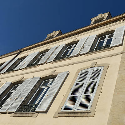 Photograph - Beaune Windows by Cheryl Miller