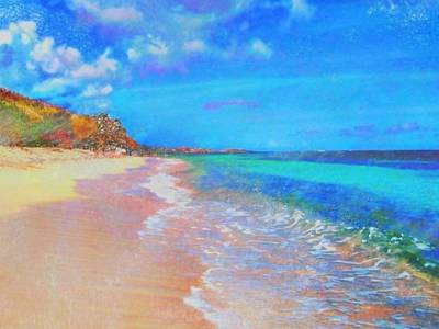 Digital Art - Beauregard Beach - Horizontal by Lyn Voytershark