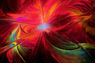 Abstract Fields Digital Art - Beaute Des Couleurs by Lourry Legarde