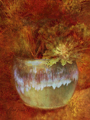 Glazed Pottery Digital Art - Beautful Planter   by Ann Powell