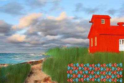 Beautification Of A Lighthouse Art Print by Bruce Nutting