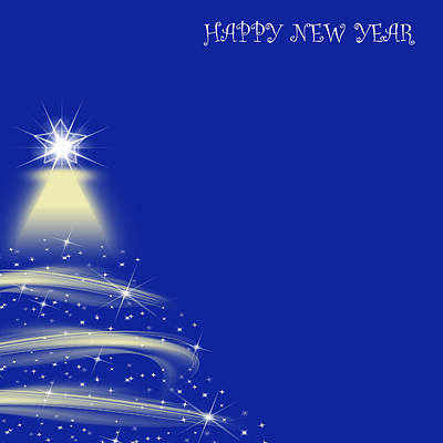 Beautiful Abstract Background Of Happy New Year  Original