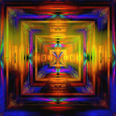 Digital Art - Beautiful Iridescent Room by Gillian Owen