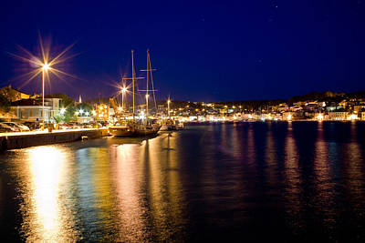 Photograph - Beautiful Adriatic Town Of Mali Losinj Evening by Brch Photography