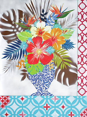 Mixed Media Florals Painting - Beautiful And Brief by Jennifer Peck