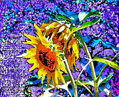 Painting - Beautiful And Bright Sunflowers by Annie Zeno