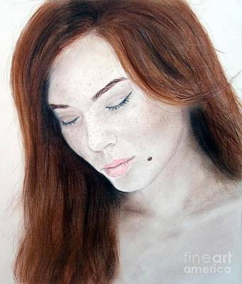Beautiful And Sexy Actress Jeananne Goossen Art Print