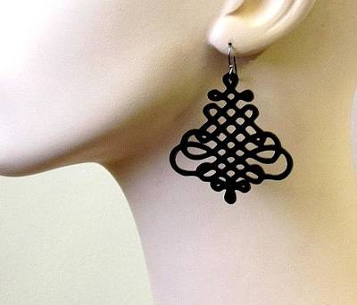 Laser Cut Jewelry Jewelry - Beautiful And Unique Spiral Earrings by Rony Bank