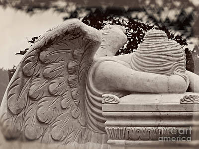 Photograph - Beautiful Angel In Prayer - Angel Photography Art by Ella Kaye Dickey