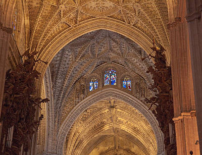 Beautiful Arches Of Seville Cathedral Art Print by Viacheslav Savitskiy
