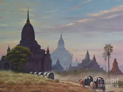 Bullock-cart Painting - Beautiful Bagan by Ye Htut