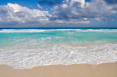 Beautiful Beach Ocean In Cancun Mexico Art Print