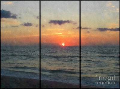 Photograph - Beautiful Beach Sunrise by Jaclyn Hughes Fine Art
