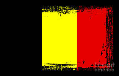 Belgium Mixed Media - Beautiful Belgium Flag by Pamela Johnson