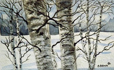 Painting - Beautiful Birches by Brenda Brown