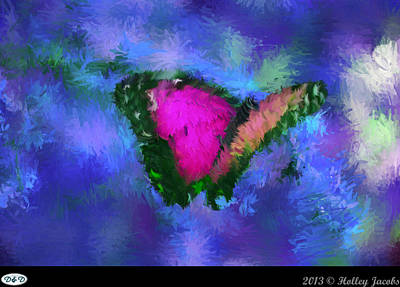 Digital Art - Beautiful Blue Colorful by Holley Jacobs