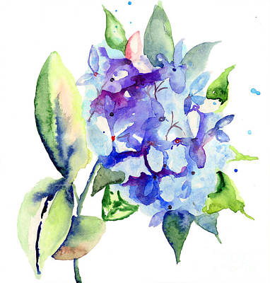 Beautiful Blue Flowers Art Print