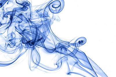 Beautiful Blue Smoke Abstract Art Print