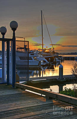 Photograph - Beautiful Boats At Marina Sunset by Valerie Garner