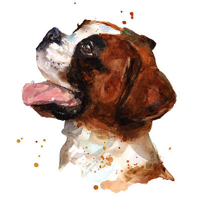Boxer Painting - Beautiful Boxer by Alison Fennell