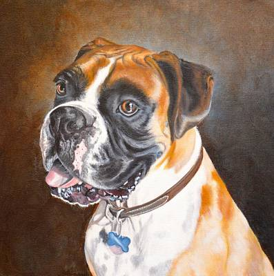 Beautiful Boxer Art Print by Judith Killgore