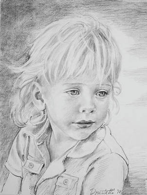 Drawing - Beautiful Boy by Kathryn Donatelli