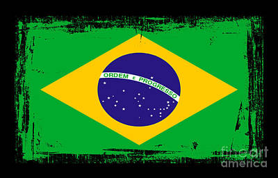 Digital Altered Mixed Media - Beautiful Brazil Flag by Pamela Johnson