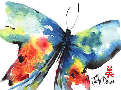Beautiful Butterfly Art Print by John Dunn